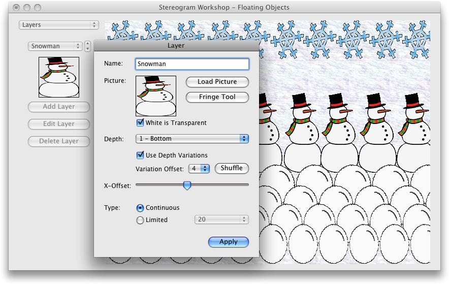 Stereogram Workshop for Mac OS X full screenshot