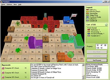 Stock trading strategy games